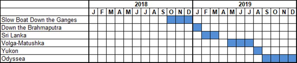 Canoe Stories tentative dates