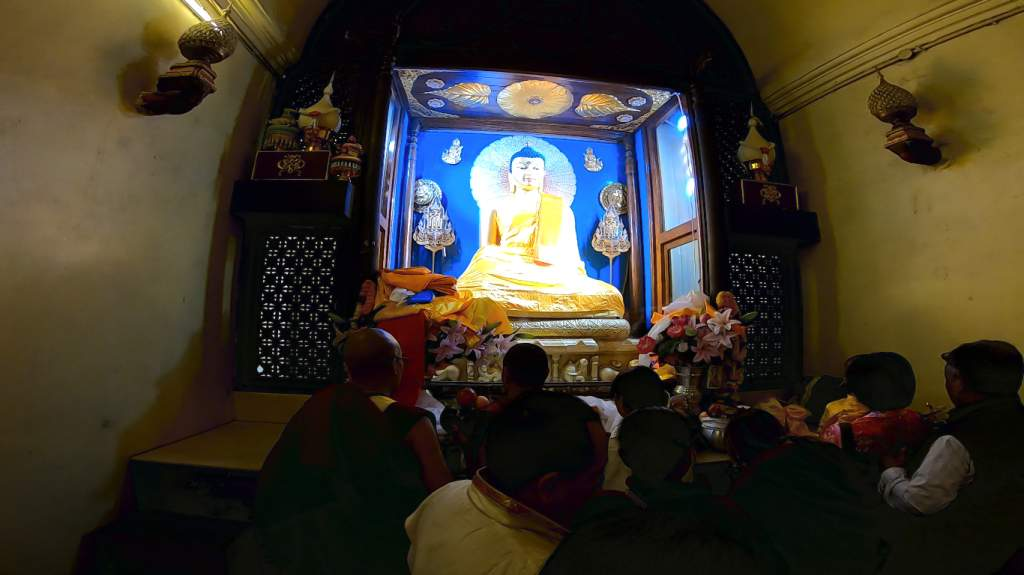 The sanctum sanctorum at Bodh Gaya