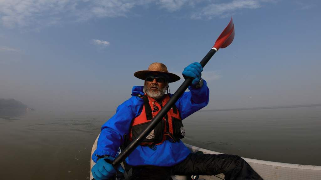 All this paddling has developed many muscles